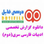 دانلود گزارش تخصصی دبیر ادبیات فارسی
